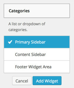 Assign Widgets Without Drag and Drop