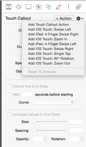 ScreenFlow 5.0 Touch Callout Actions